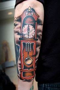 26 Best Grandfather Clock Tattoo images | Watch tattoos ...