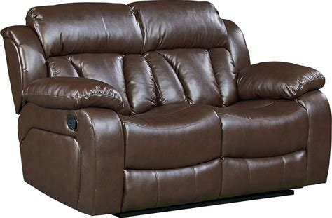 Shore Loveseat by Shore Chocolate Brown Reclining Loveseat From