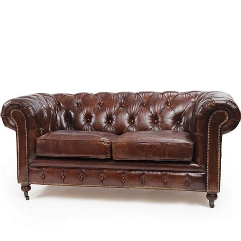 antique leather loveseat vintage leather chesterfield sofa