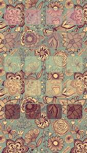 Tap image for more iPhone pattern wallpaper! Vintage ...