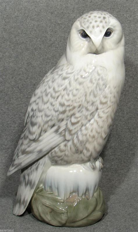 royal copenhagen figurine snowy owl  large
