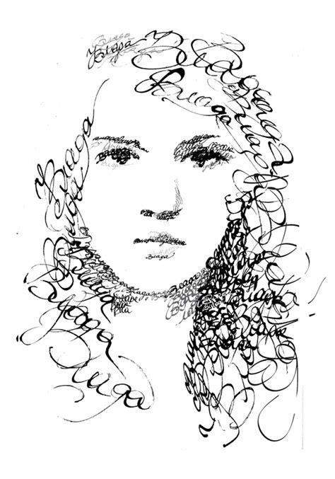 calligraphy portraits  behance