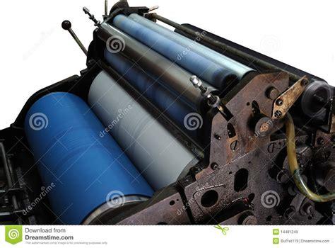 offset printing machine stock image image