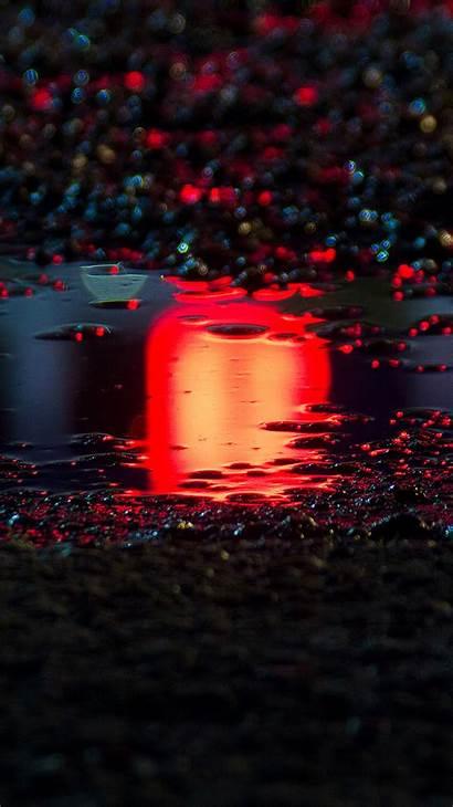 Iphone Wallpapers Rain Water Bokeh Asphalt Bf60