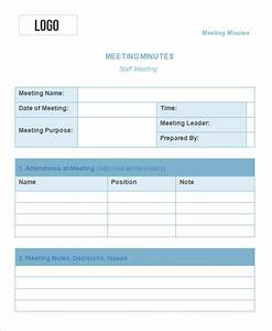 10 meeting minute templates free sample example With weekly meeting minutes template