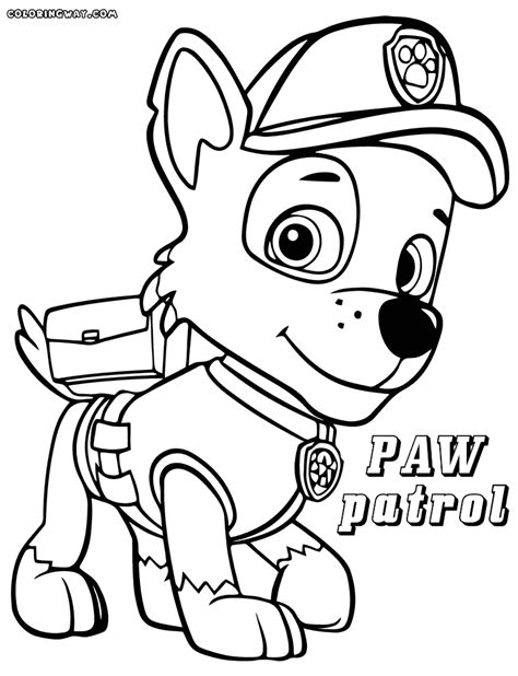 paw patrol coloring pages  print color craft