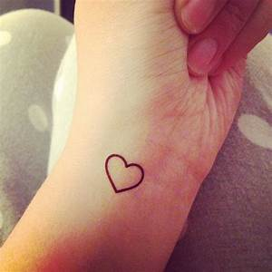 Beautiful Tiny Heart Tattoo On Wrist | Tattooshunt.com