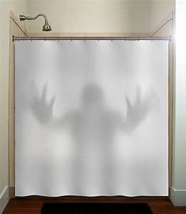 Window Sizes Chart Halloween Gray Scary Ghost Shower Curtain Extra Long Fabric