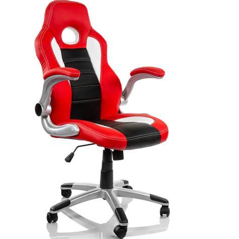 chaise de bureau blanche et racing
