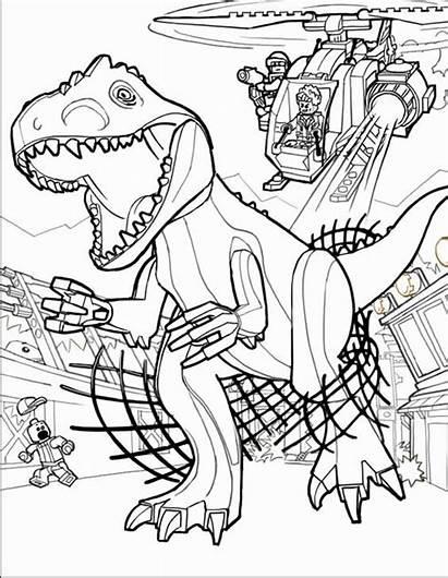 Coloring Jurassic Lego