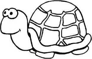Kids Turtle Coloring Page