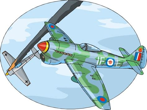 World War 2 Aeroplane Colouring Pages - www.free-for-kids.com