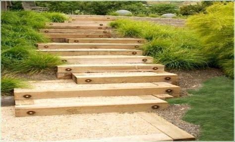 Treppe Bauen Garten Holz Hauptdesign