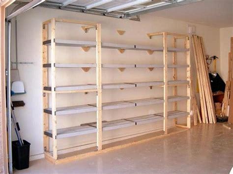 Ideas  Organize The Garage Shelf Plans Storage Shelves