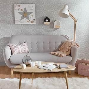 Canapé Maison Du Monde Gris : petit canape vintage gris clair tissu maisons du monde ~ Dallasstarsshop.com Idées de Décoration