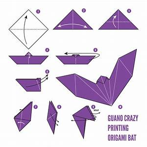 Printable Origami Bat Instructions