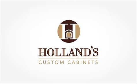 Logo Design Holland's Custom Cabinets  Graphic Dsigns