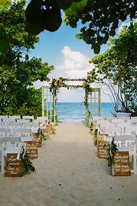 green peach and gold jupiter beach resort wedding With beach wedding ceremony ideas
