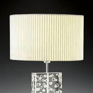 Glas Lampenschirme Für Tischleuchten : lampenschirm creme rund plissee 40 x 20 cm online shop direkt vom hersteller ~ Bigdaddyawards.com Haus und Dekorationen