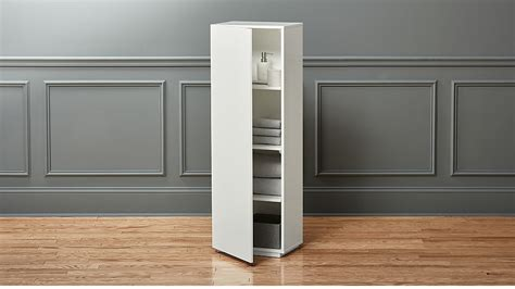 The Wall Tall White Bathroom Cabinet