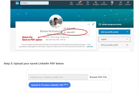 resume builder import from linkedin linkedin into resume two birds with one tough