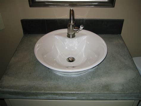 Custom-bathroom-sink-countertop-concrete Creations Nwa