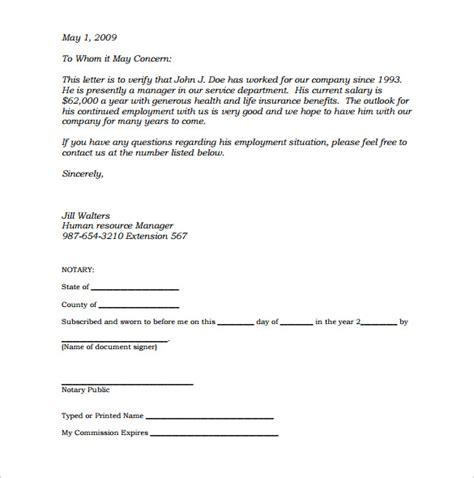 notarized letter templates    premium