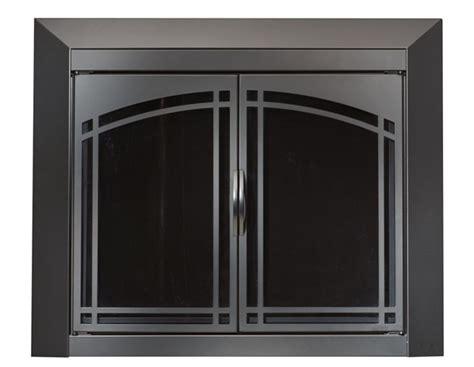 Fairmont Black Fireplace Doors Medium, Replacement
