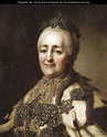 Portrait Of Catherine The Great - (after) Alexander Roslin ...