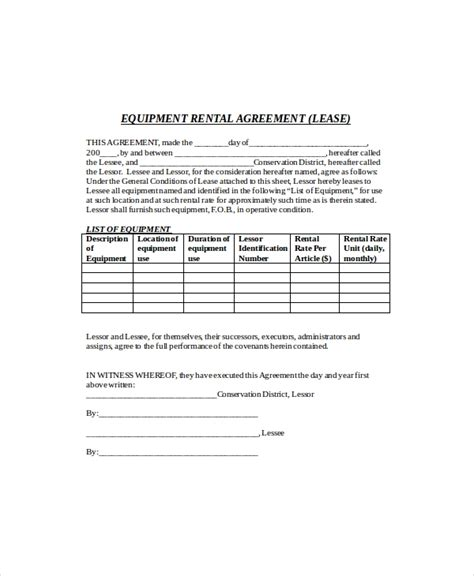 rental agreement templates  word  format