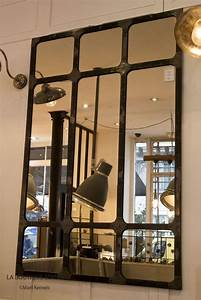 Grand Miroir Industriel : miroir industriel xxl miroir d 39 atelier en m tal finition ~ Melissatoandfro.com Idées de Décoration
