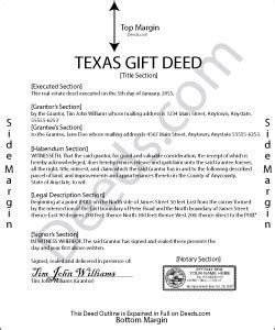 texas property deed form texas gift deed forms deeds