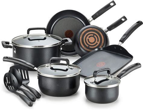 nonstick cookware dishwasher safe fal signature pans pots spot sets thermo indicator heat piece