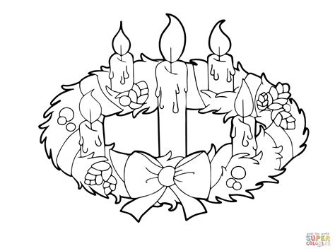 advent wreath  candles coloring page  printable