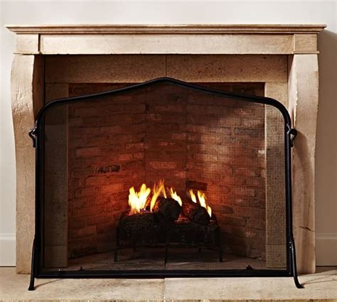 pottery barn fireplace screen laramer fireplace single screen pottery barn