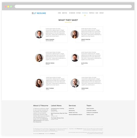 Resume Theme Responsive by Lt Resume Free Responsive Personal Cv Resume Theme Responsive Joomla And