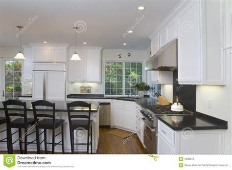 Newly Remodeled White Kitchen Stock Photo   Image: 1293878