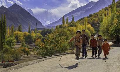Nagar Peak Golden Valley Background Pakistan Dawn