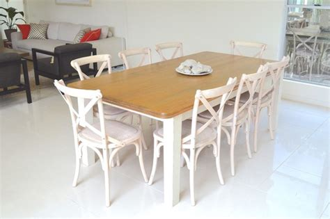cross back chair dining room table white wash cross back chairs and country style table