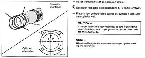 piston ring orientation   piece oil ring pelican