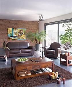 salon bois et chiffons 20 photos With tapis de sol avec canapé club cuir convertible