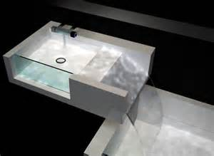 bathroom waterfall combined sink bathtub design