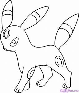 How to Draw Umbreon, Step by Step, Pokemon Characters ...