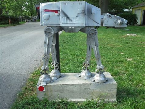 cool mailbox ideas with classy cool metal robot mailboxes