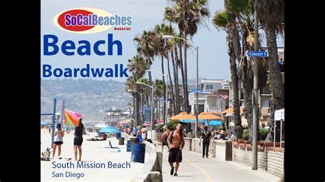 Beach Boardwalk South Mission San Diego Youtube