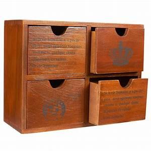 4, Drawer, Wooden, Storage, Organizer