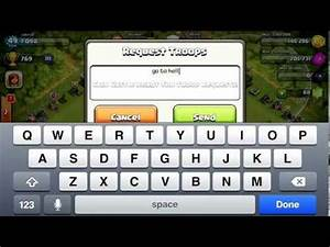 hilarious troop request message! clash of clans - YouTube