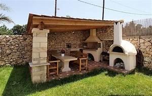 Abri Pour Barbecue Exterieur : barbecue en pierre pour quiper la cuisine d 39 t en 35 ~ Premium-room.com Idées de Décoration