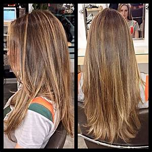 Brown Hair With Natural Highlights Hair Cuts Color And