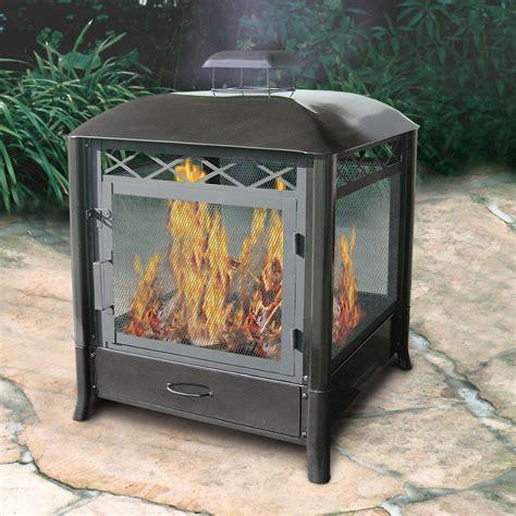 homebase kitchen furniture shop landmann usa black steel outdoor wood burning